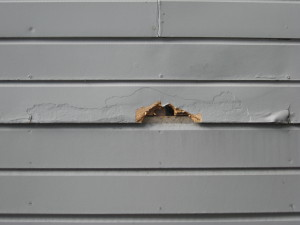 gutters & masonite siding